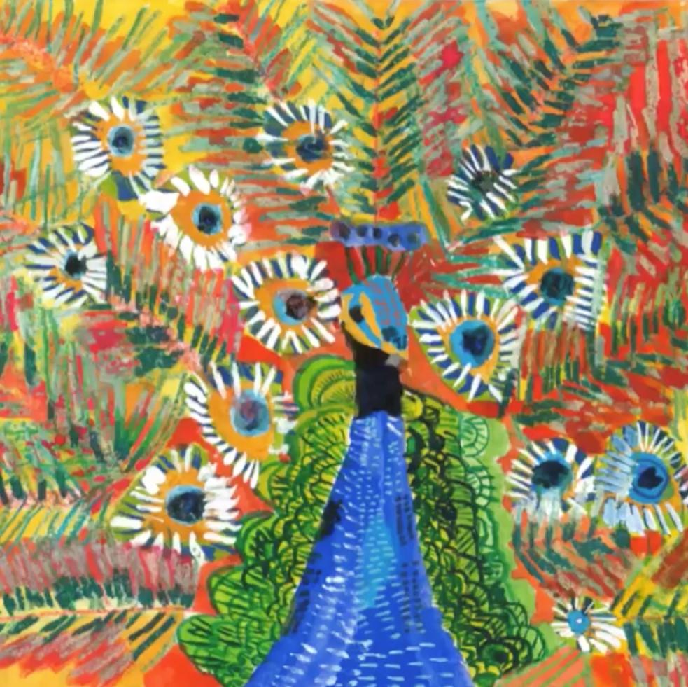 視障、多重障礙青年施承漢的繪畫