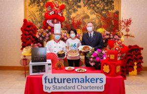 渣打Futuremakers攜手西華飯店 愛心年菜到府助弱勢